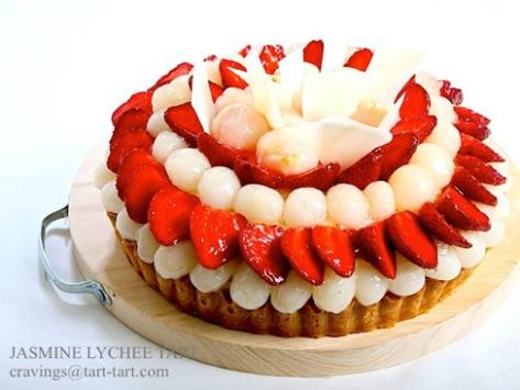 Jasmine Lychee Tart. Toko Cake Jakarta Utara