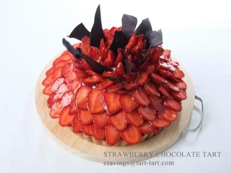 Strawberry Chocolate Tart. Toko Cake Jakarta
